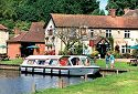 Boating inn on the River Bure at Wroxham in Norfolk Broads