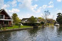 Riverside houses at Wroxham in the Norfolk Broads
